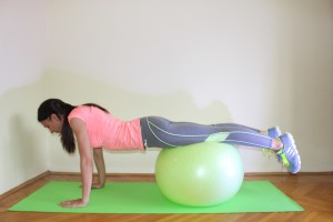 Push-Up swiss ball