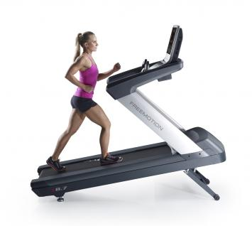 t8.7 treadmill side view inclined with person